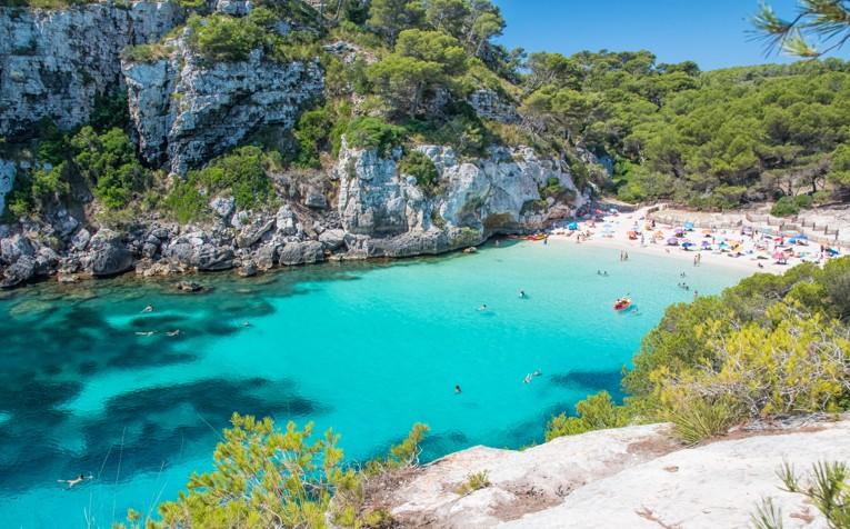 Cala Macarelleta beach in Menorca