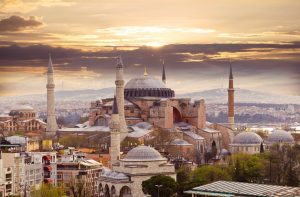 Hagia Sophia in Istanbul. Turecko