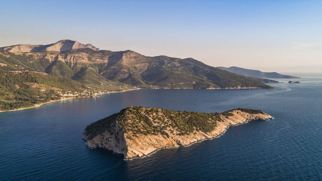 Kinira island. Thassos