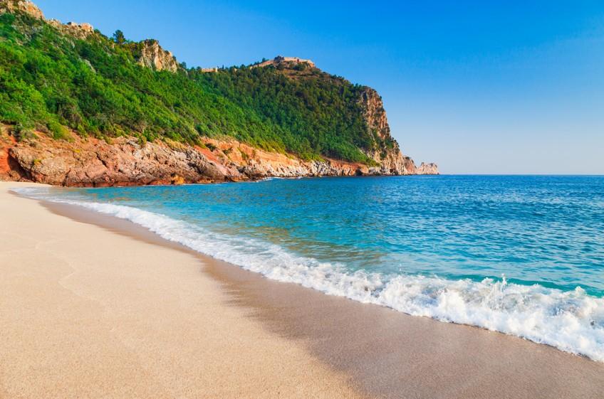 Kleopatřina pláž, Alanya,Turecko