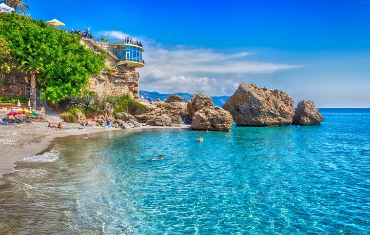 Nerja, Costa del Sol, Andalusia, španělsko