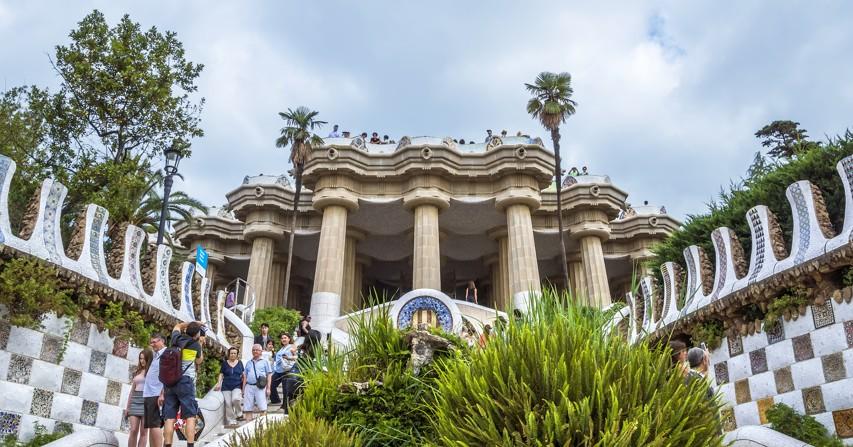 Park guell v Barceloně, španělsko