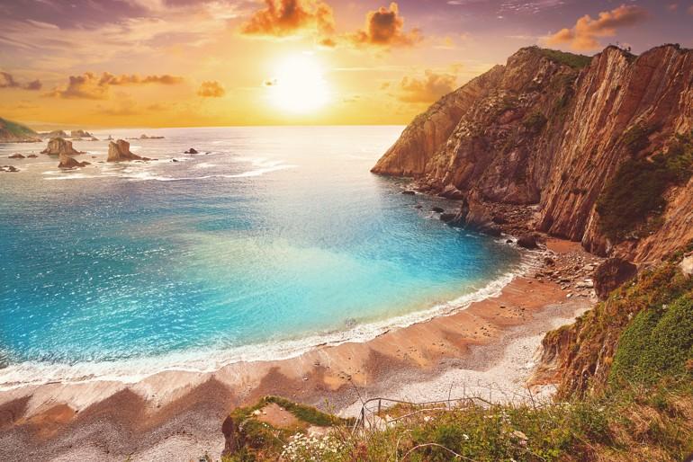 Playa del Silencio, španělsko