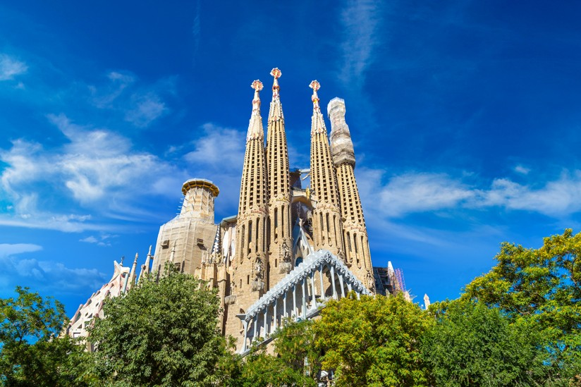 Sagrada Familia, Barcelona, Španělsko
