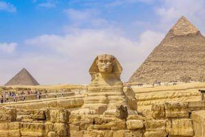 Sfinga a pyramidy, Egypt