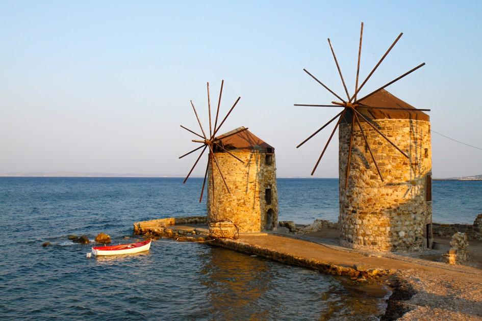 Staré mlýny, ostrov chios, Řecko