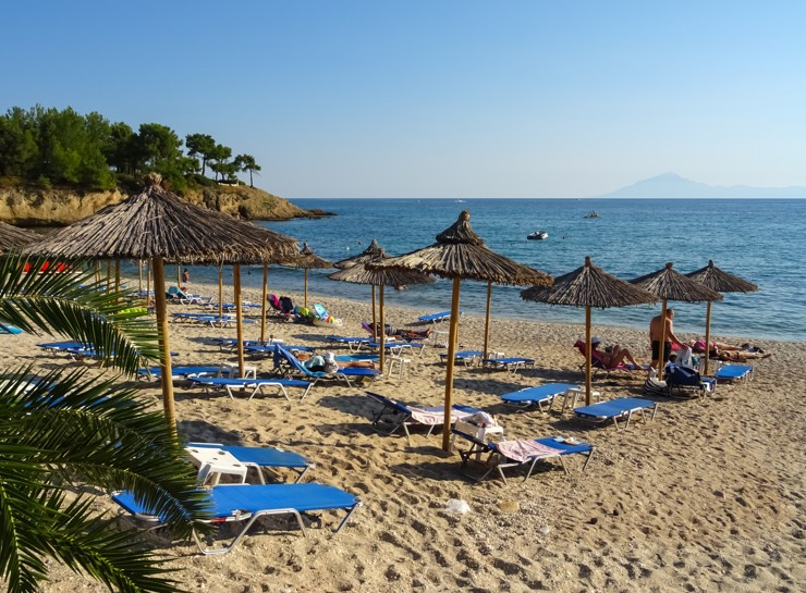 Thassos, Pefkari beach