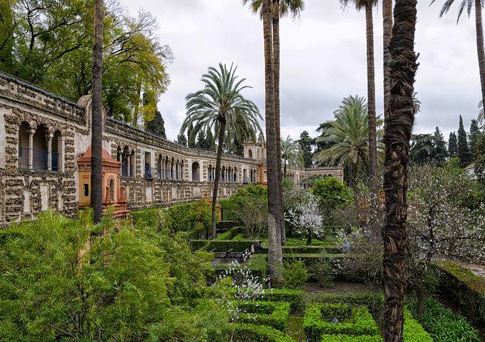 alcazar, sevilla, španělsko
