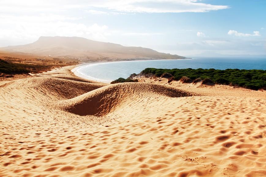 Bolonia pláž, provincie Cádiz, Andalusie, Španělsko