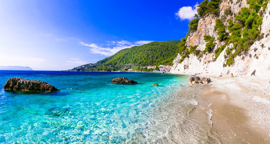 pláž Hovolo, Skopelos