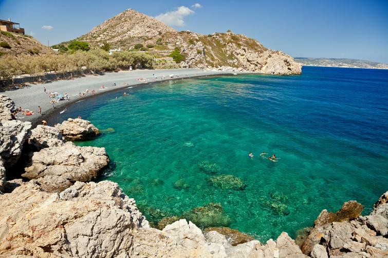 pláž Mavra Volia, Emporios, Chios