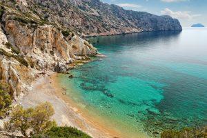 pláž Vroulidia, Chios