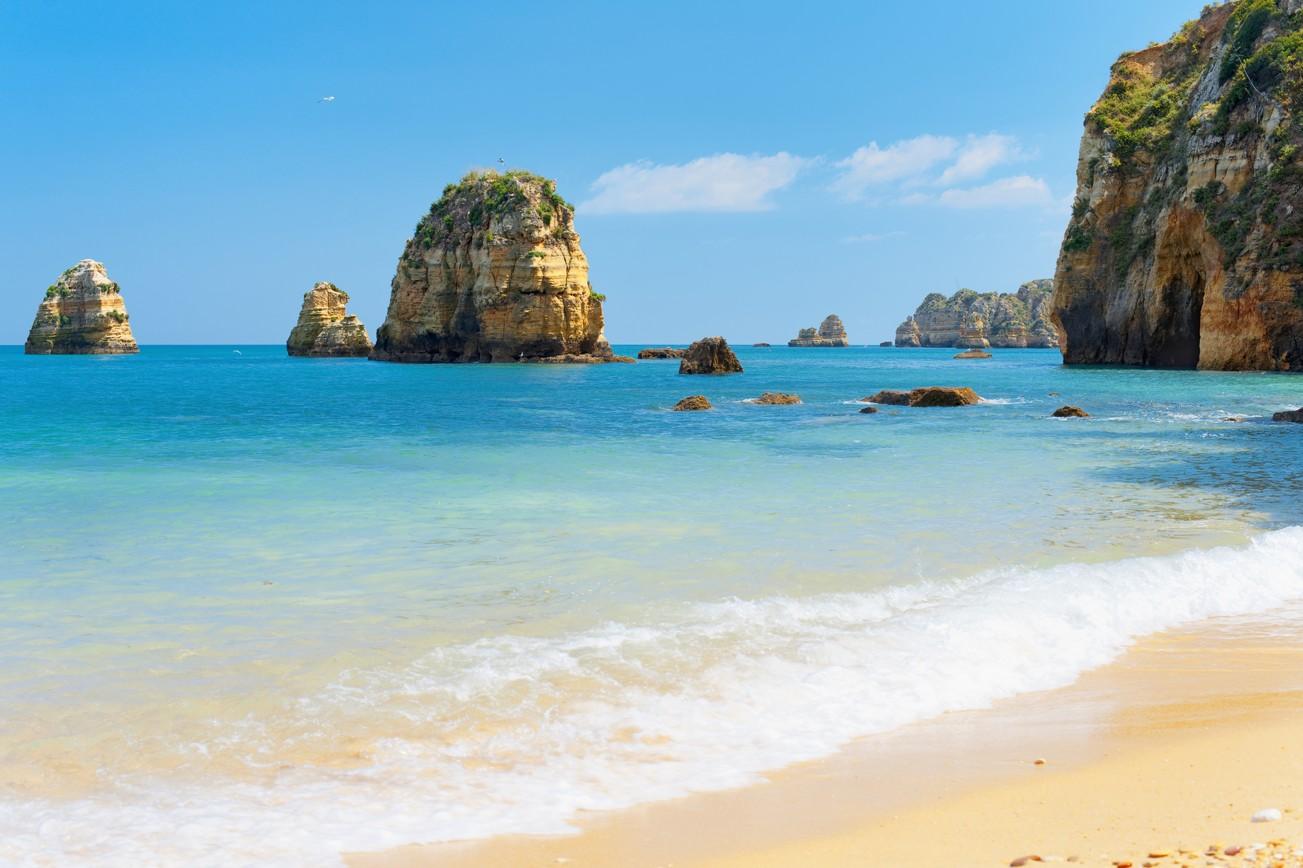 pláž v lagos, Portugalsko