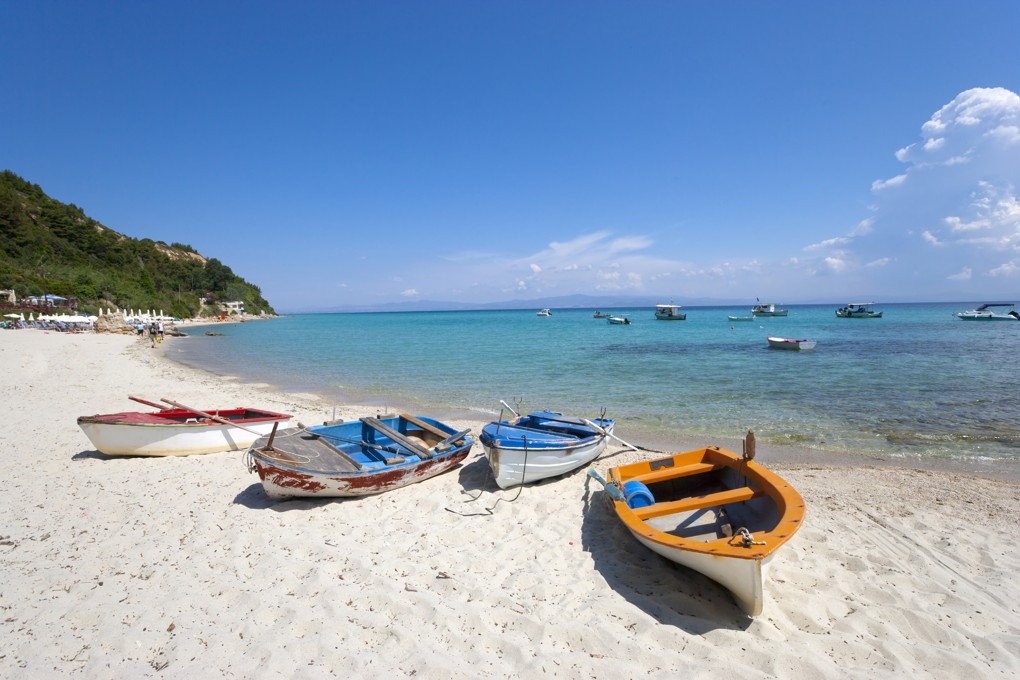 Afitos beach, Chalkidiki, Řecko