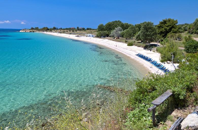 Agios Ioannis beach, Chalkidiki, Řecko