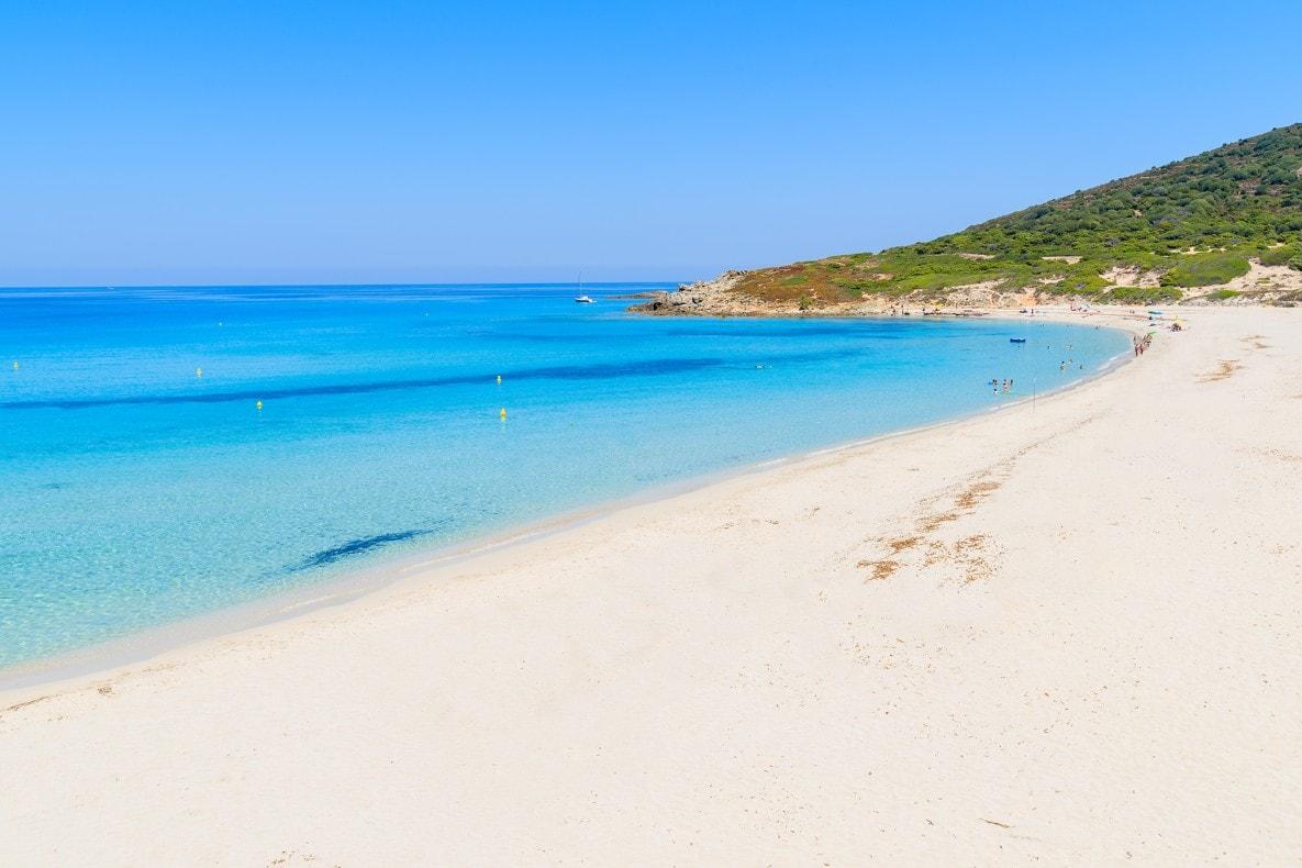 Bodri beach near L'lle Rousse, Korsika