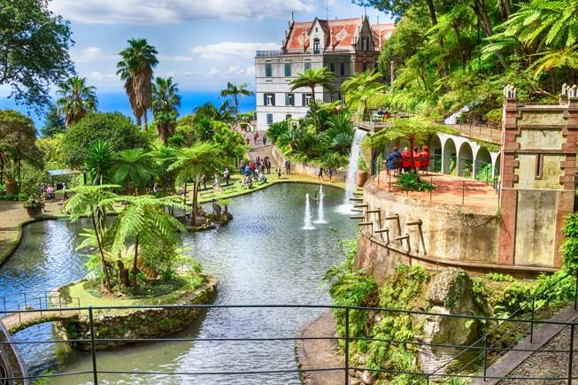 Botanická zahrada Monte Palace Tropical Garden. Funchal, Madeira