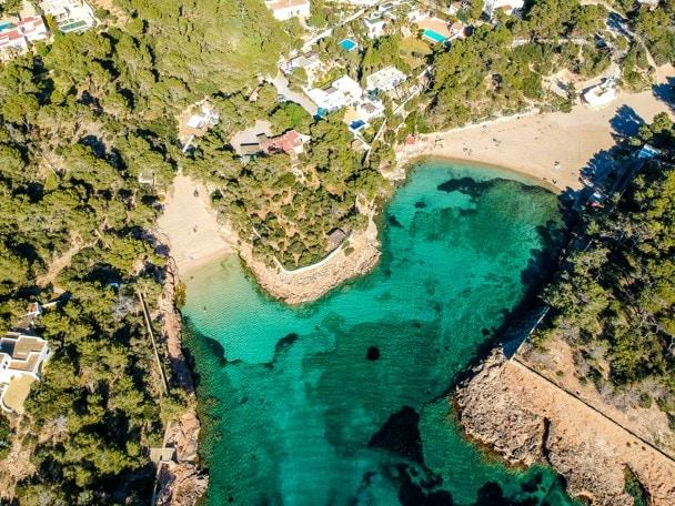 Cala Gracio Beach (left beach) and Cala Gracioneta Beach (right beach), Ibiza
