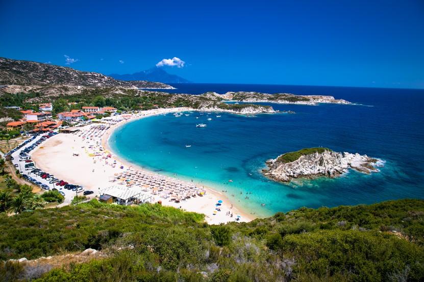 Kalamitsii beach, Chalkidiki, Řecko