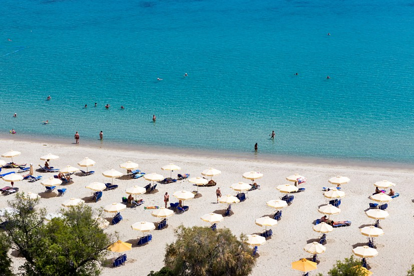 Kallithea beach, Chalkidiki, Řecko
