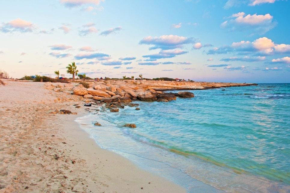 Landa beach in Agia Napa, Kypr
