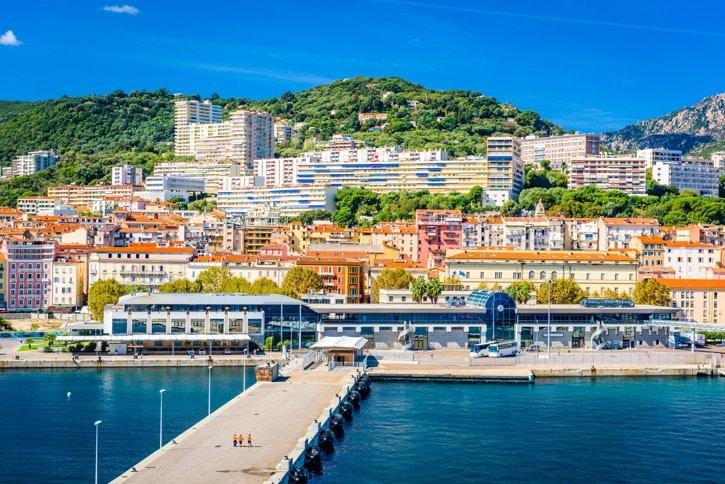 Město Ajaccio, Korsika