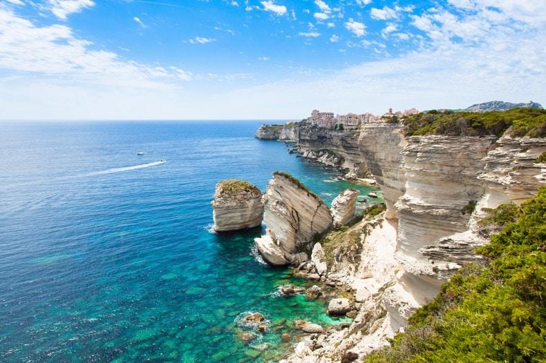 Město Bonifacio, Korsika