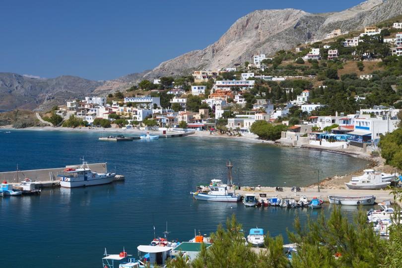 Melitsahas fishing village at Kalymnos