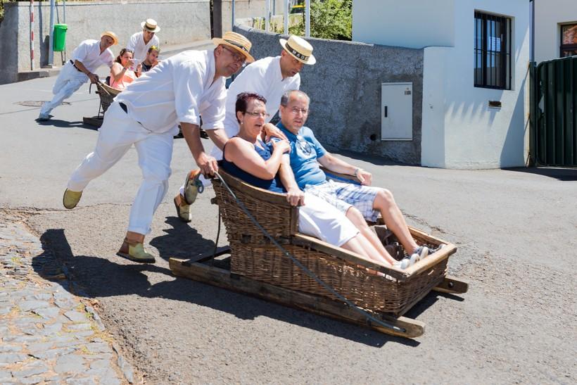 Montský tobogán – jízda na proutěných saních, Madeira