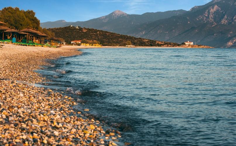 Mykali beach on Samos