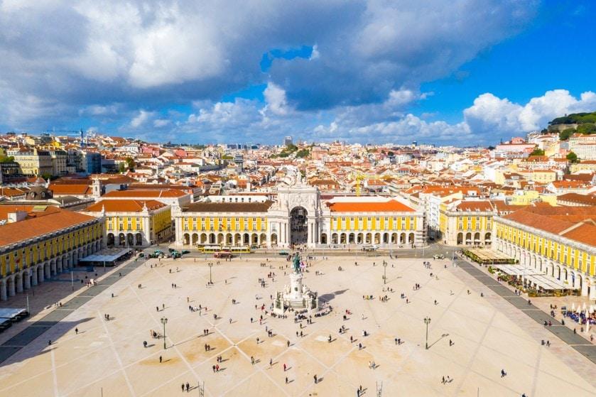 Náměstí Praça do Comércio, Portugalsko