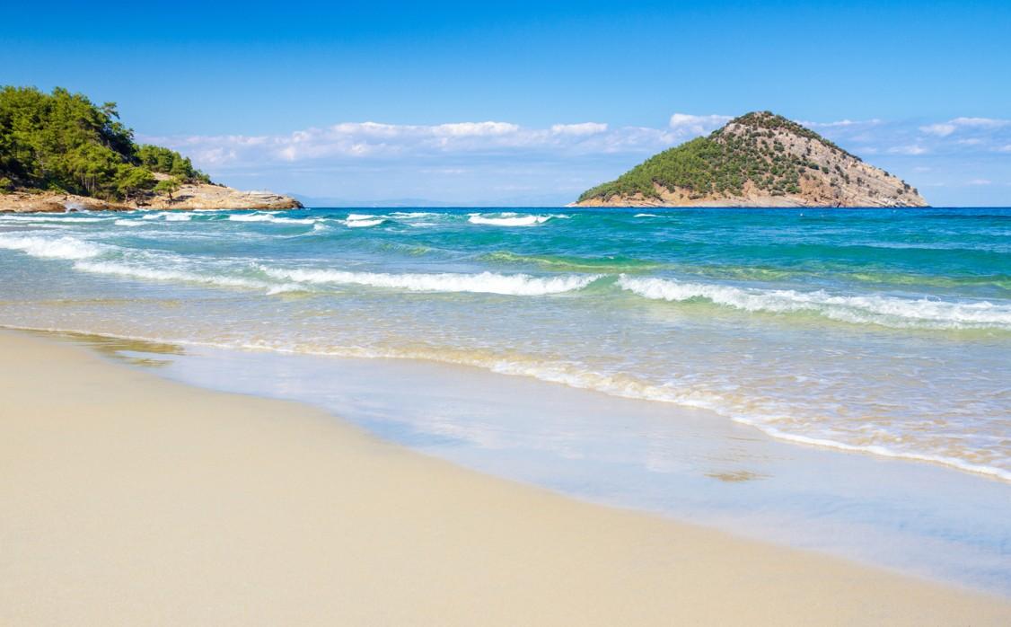 Paradise beach on ThassosParadise beach on Thassos