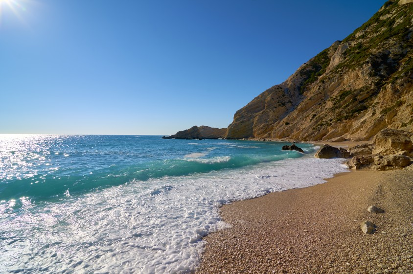Petani beach in Kefalonie
