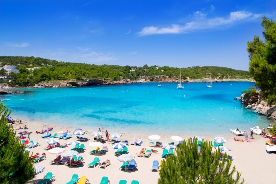 Portinatx turquoise beach paradise Ibiza