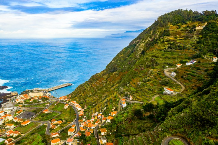 Porto Moniz with lava-rock pool, Madeira