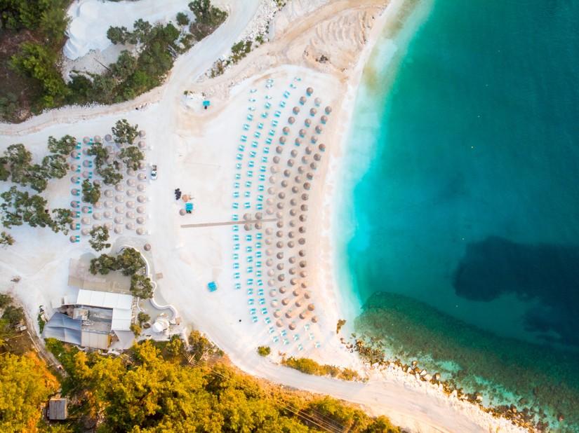 Porto Vathy beach in Thasos