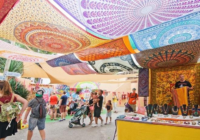 Punta Arabi Hippie trhy, Ibiza