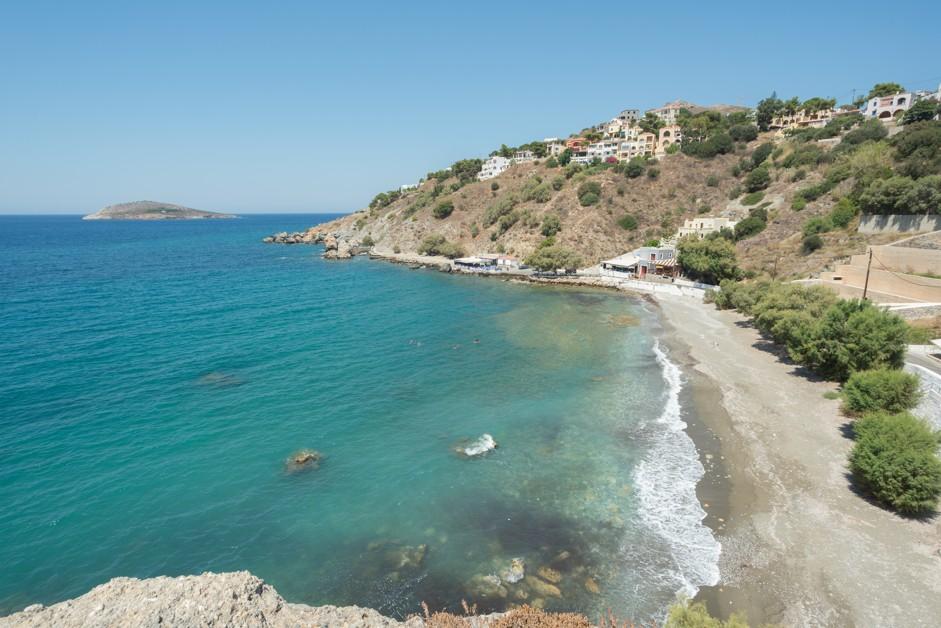 Sandy beach of Linaria in Kalymnos