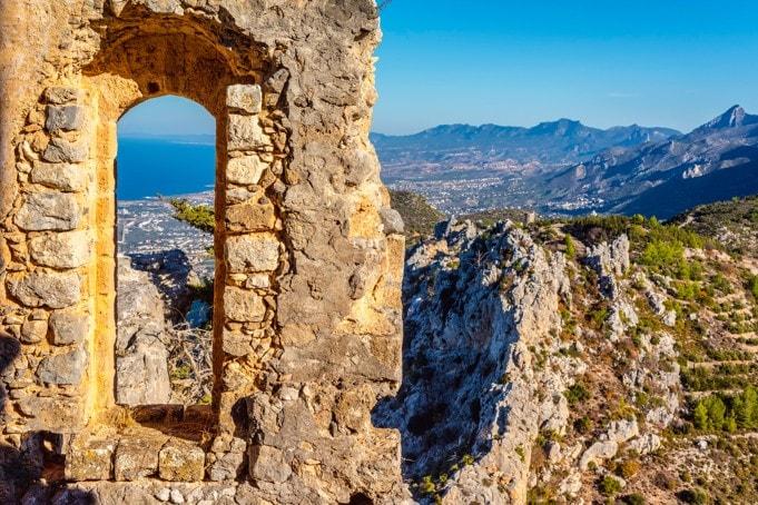 St Hilarion Castle. Kyrenia, Kypr