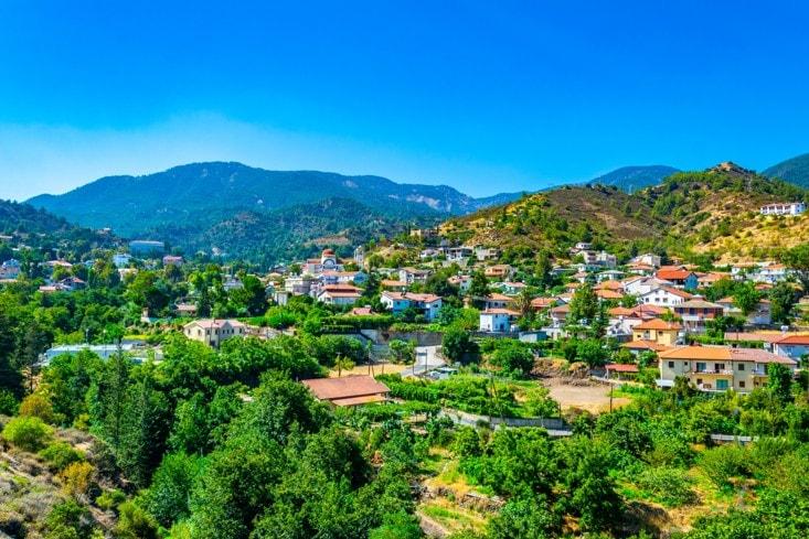 Vesnice Kakopetria, Kypr