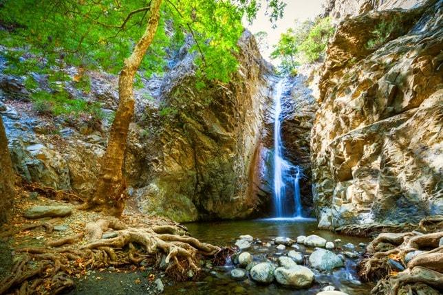 Vodopády Millomeris, Kypr