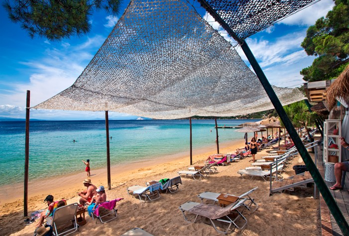 Vromolimnos beach on Skiathos
