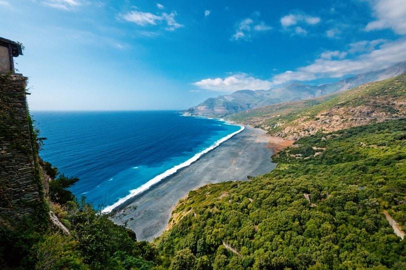 pláž Nonza, Korsika