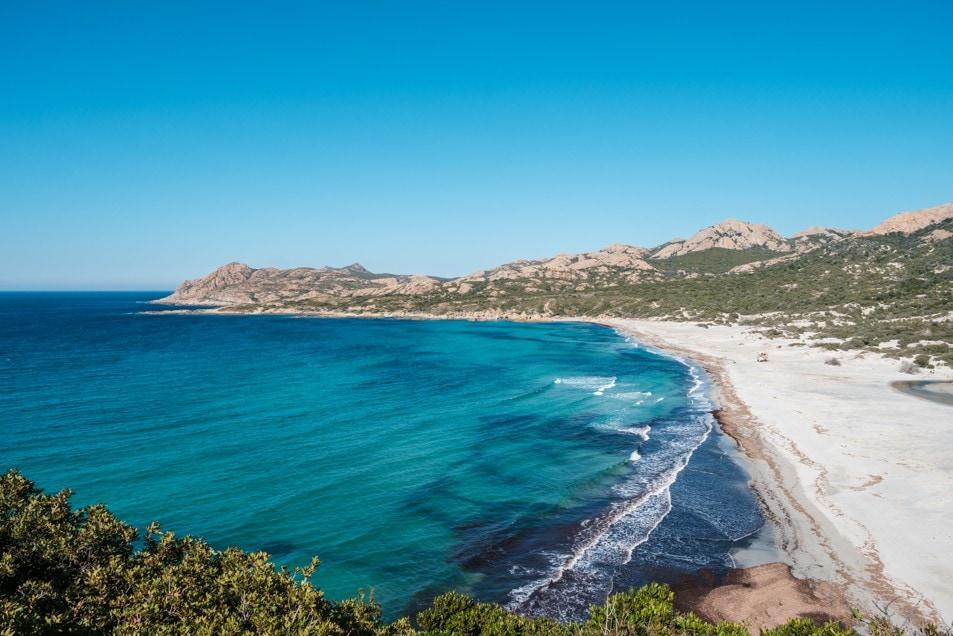 pláž Ostriconi, Korsika
