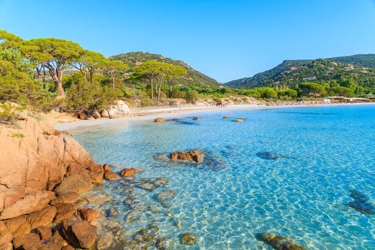 pláž Palombaggia, Korsika