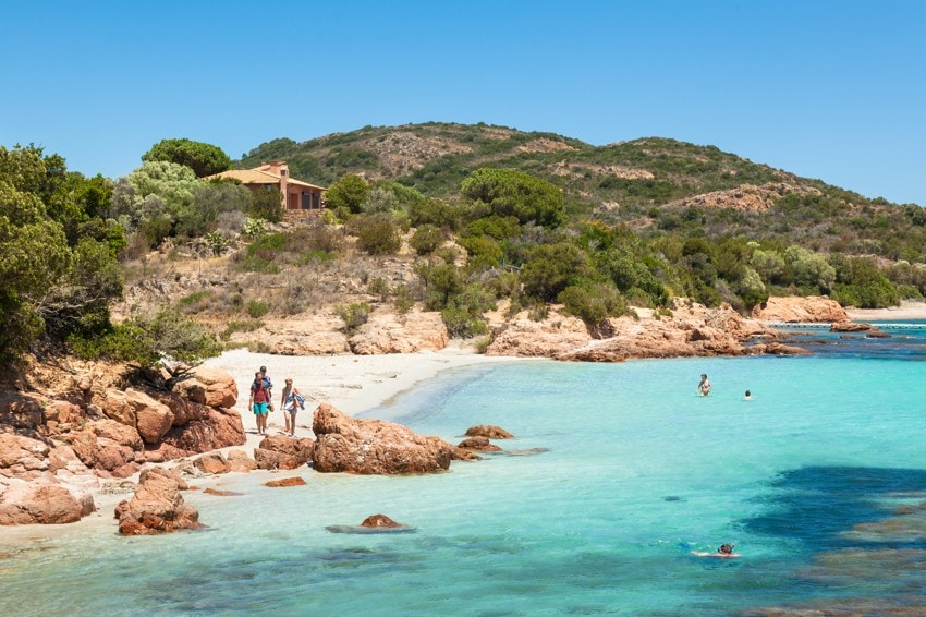 pláž Rondinara, Korsika