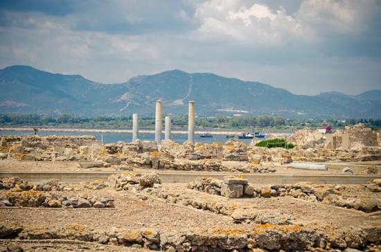 ruins in Nora, Sardinie