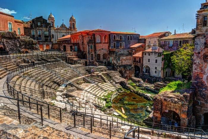 Ancient Roman. Katánie, Sicílie