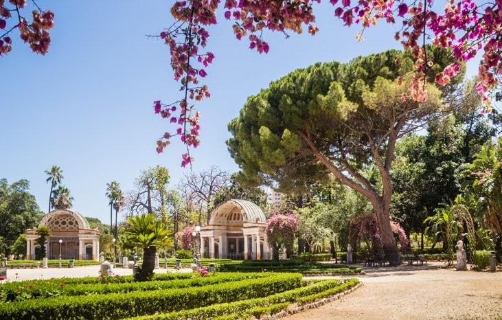 Botanická zahrada Palermo Sicílie