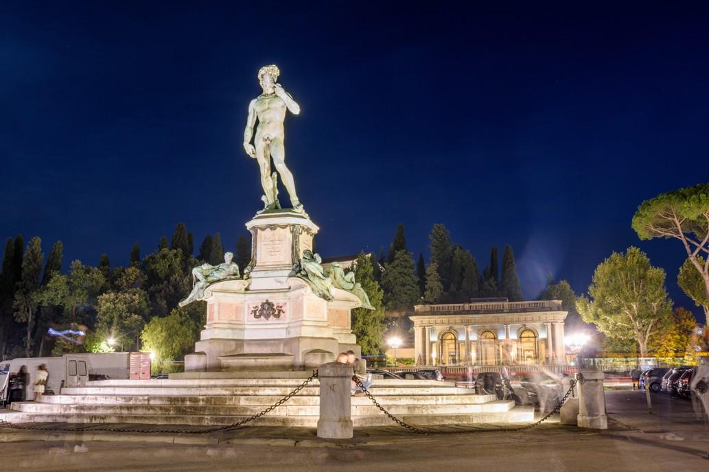 Náměstí Piazzale Michelangelo, Florenci, Itálie